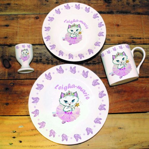 Personalised Nina Butterfly Breakfast Set